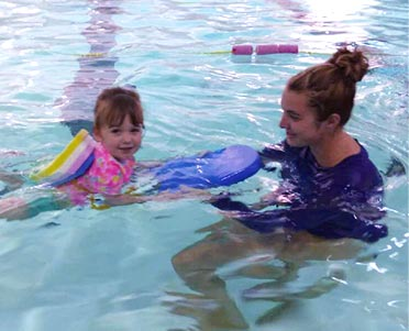 Toddler swimming lessons at Excel Aquatics