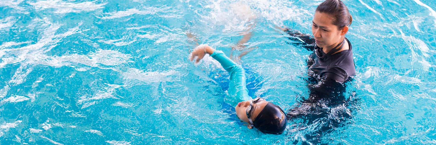 Private swimming lessons through our summer at-home program.