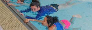 Kid swimming lessons at Excel Aquatics