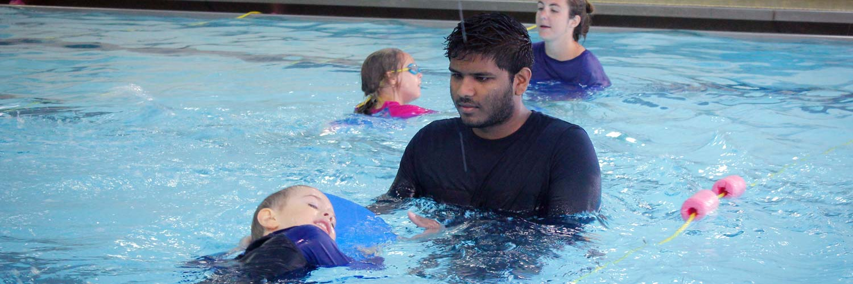 Weekend swimming lessons at Excel Aquatics.
