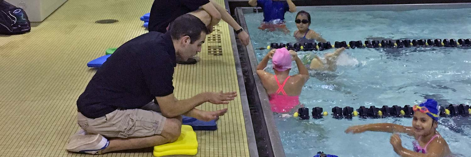 Competitive swimming lessons at Excel Aquatics.
