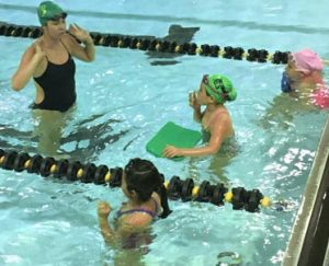 Competitive swimming for children